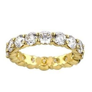 4.00 Karat Memoire Diamantring 585er Gelbgold