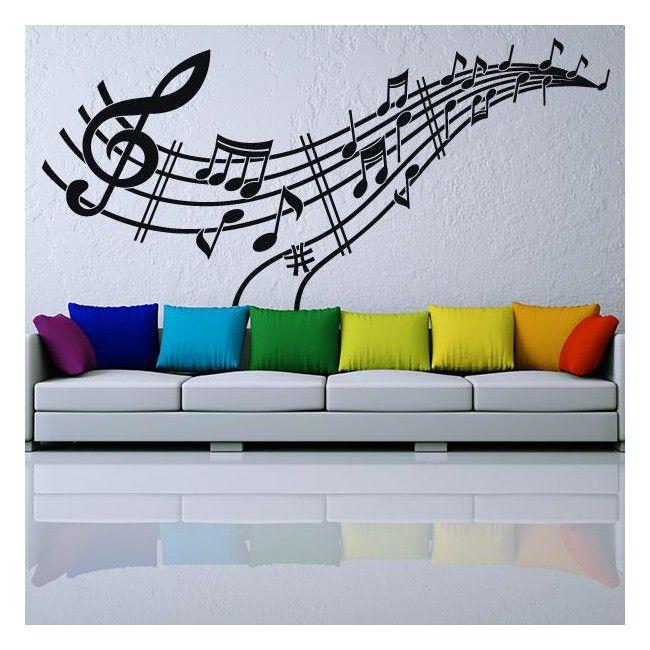 Buscas vinilos musicales para la decoración de interiores ?. En Vinilos Casa ® te proponemos este original y exclusivo vinilo decorativo musical, con el que podrás decorar paredes, decorar cristales, decorar puertas, decorar armarios.