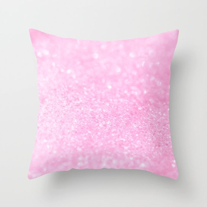 Pink Shiny Glitter Abstract Bokeh #decor #society6 Throw Pillow