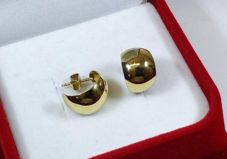 Vintage Ohrstecker - Ohrringe Gold 333 Ohrhänger Halbcreolen edel OR110 - ein Designerstück von Atelier-Regina bei DaWanda