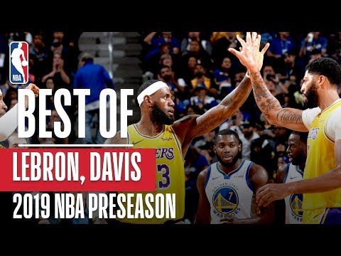 BEST OF LEBRON JAMES und ANTHONY DAVIS Ab 2019 NBA Preseason – YouTube   – Los Angeles Lakers