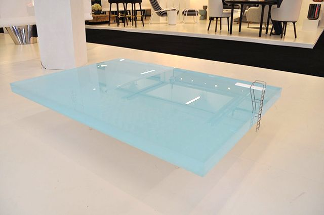 $ Freshwest Pool Table: Made from 50mm of acrylic, which plays with light to mimic the appearance of a swimming pool.
