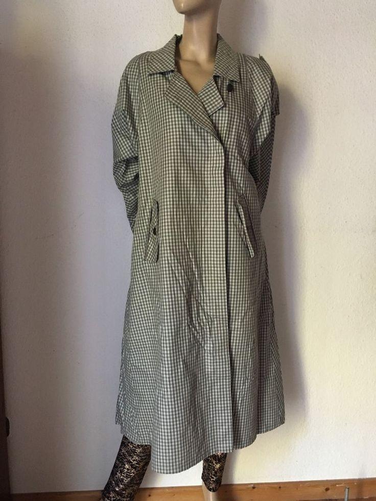 Trenchcoat Vintage Mantel Kariert 70er Mantel Sherlock Holmes 44 46 Diolen Clothes Fashion Shirt Dress