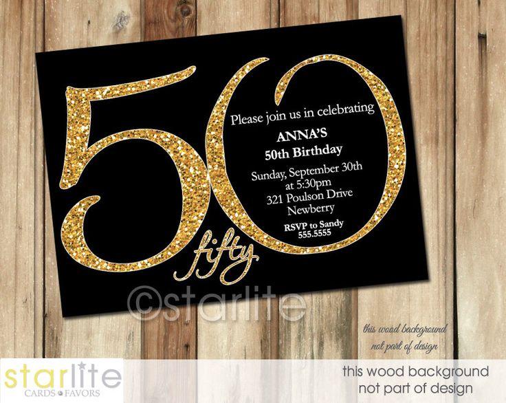 Vce ne 20 nejlepch npad na tma 50th birthday invitations na