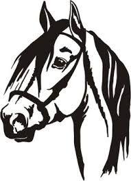 Afbeeldingsresultaat voor horse head silhouette