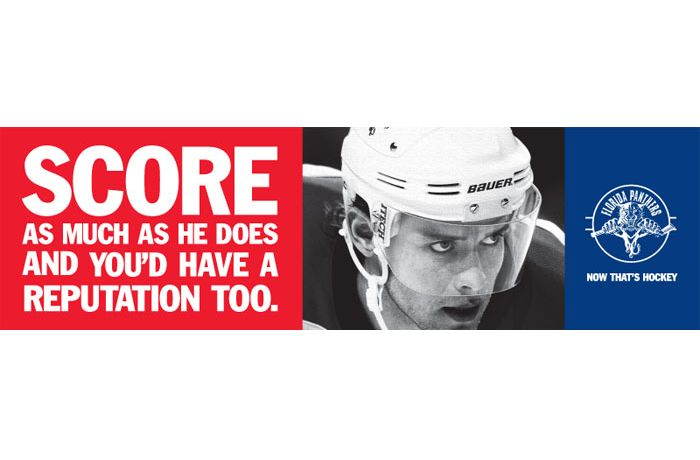 """Florida Panthers - """"Score As Much As He Does And You'd Have A Reputation Too."""""""