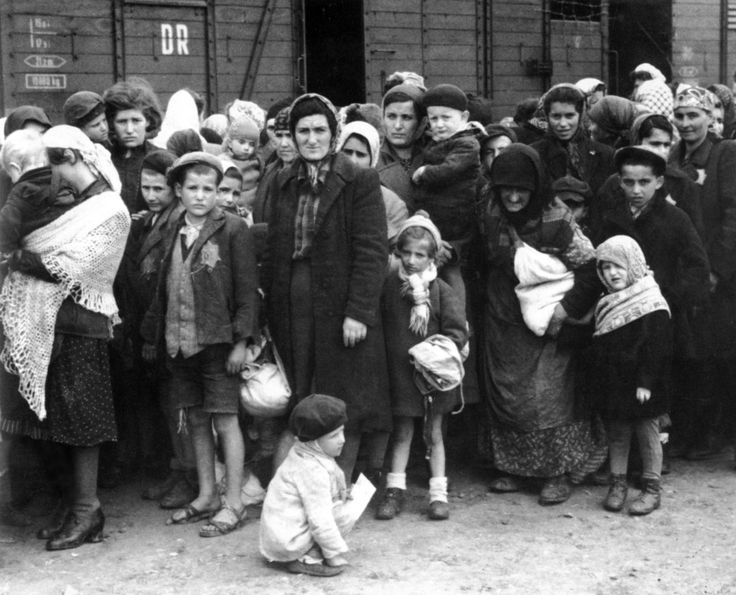 Hungarian Jews from Carpathian Ruthenia (today, mostly in Ukraine) arrive by train at Auschwitz-Birkenau concentration camp. The first transports of Jews from Axis ally Hungary to Auschwitz began in early May 1944 and continued even as Soviet troops approached. It is estimated that from an original population of 861,000 people considered Jewish inside the borders of Hungary between 1941 and 1944, about 255,000 survived; asurvival rateof just29.6%. Auschwitz concentration camp, Auschwitz…