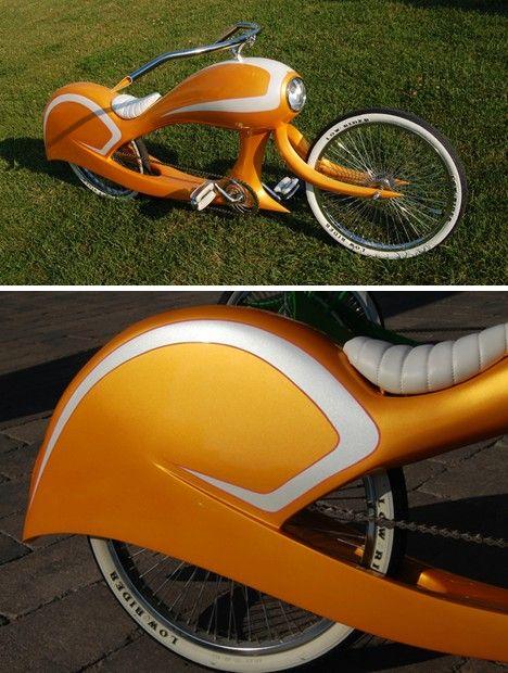 Custom closed low rider bike