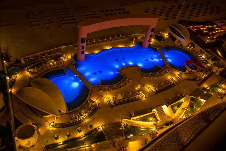 The main pool at the Beach Palace Cancun Resort.