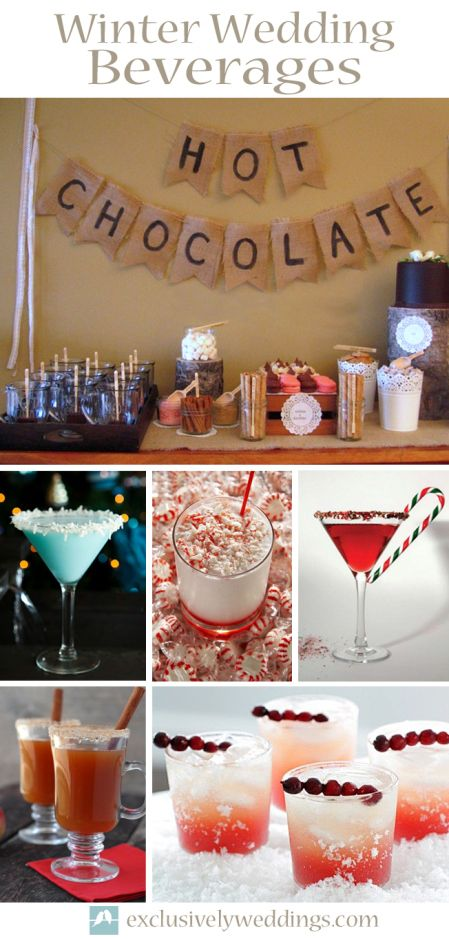 Winter Wedding Beverages - The winter season offers so many opportunities for creating special beverages for your guests.