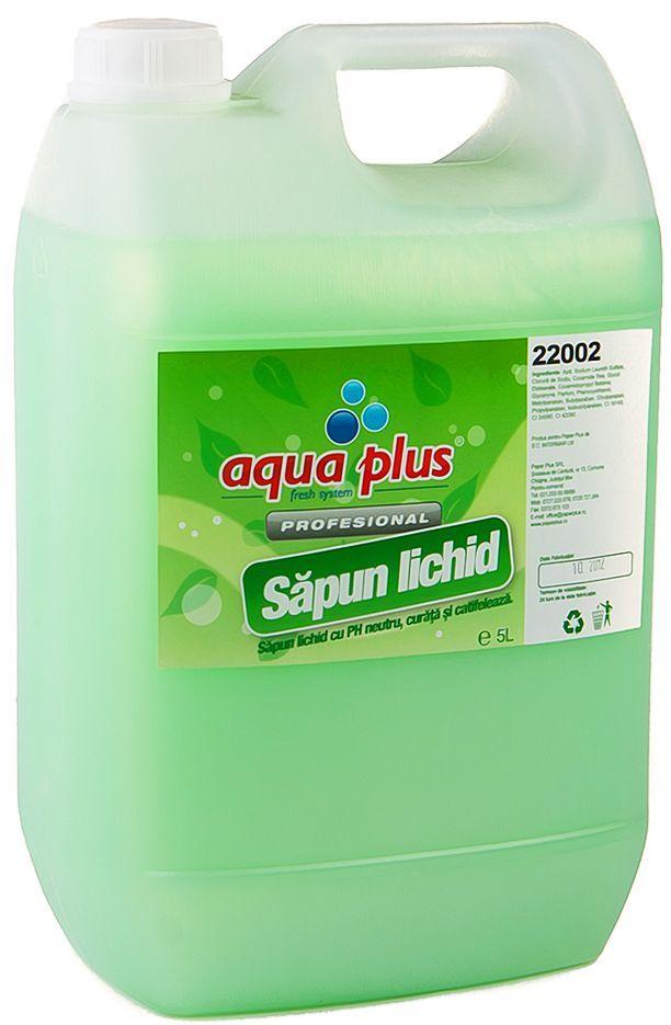 Sapunul lichid Aqua Plus Fresh Up cu PH neutru curata si protejeaza mainile. Compatibil cu dispenserul din inox Sidef.