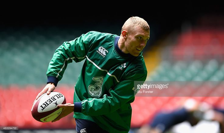 Ireland centre Keith Earls in action during Ireland's captains run prior to saturday's Rugby World Cup warm up match against Wales at Millenium Stadium on August 7, 2015 in Cardiff, Wales.