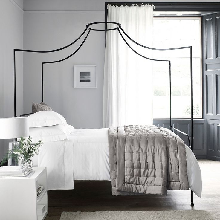 Beaumont Four Poster Bed Beds The White Company White Metal Bed Four Poster Bed White Bedroom Design