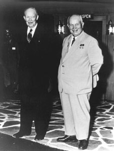 "A ""thaw"" in the Cold War: Eisenhower and Kruschev at Gettysburg.American History, Eisenhower, Presidential, Cold War, History'S P, Presidents Ike"