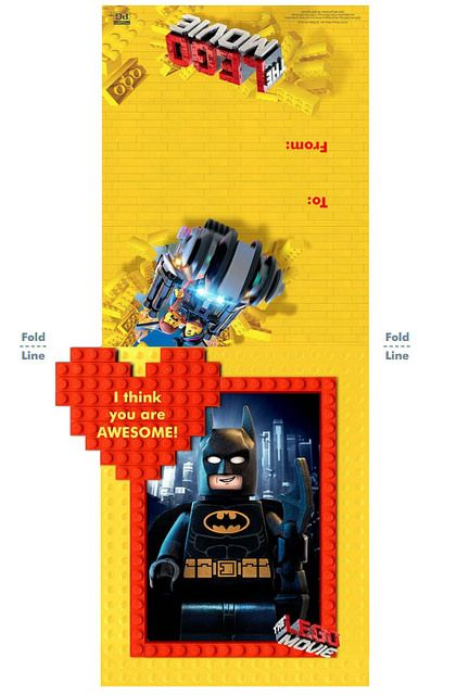lego movie valentine's day cards