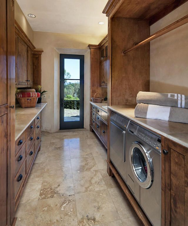 Laundry room with outdoor access.  #laundryroom homechanneltv.com