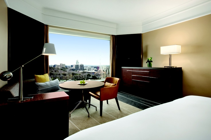 Grand Hyatt Melbourne guestrooms provide a perfect view to start your day.