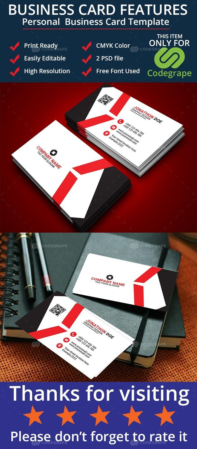 Personal Business Card Personal Business Cards Business Card Template Business Card Size