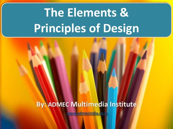The presentation will give you a good understanding about the significance, meaning and the types of designing elements and principles .