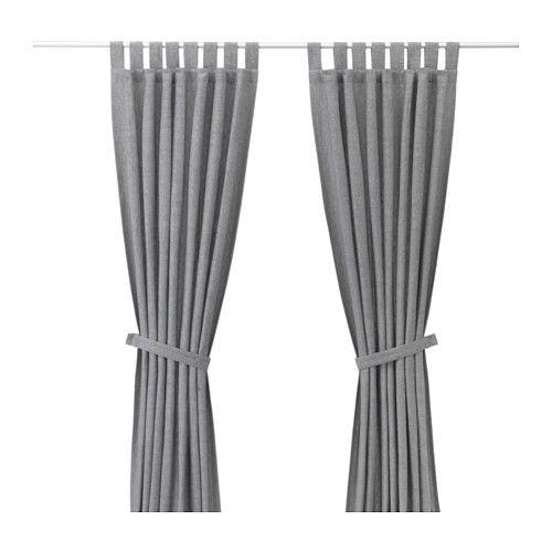 LENDA Curtains with tie-backs, 1 pair IKEA