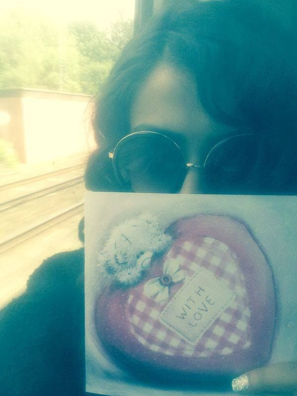 My birthday :) On the train to Bournemouth
