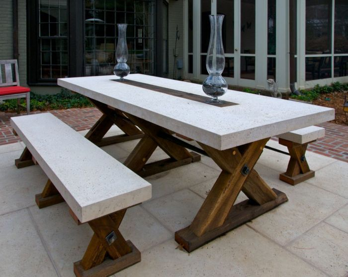 Elegant Tipton Collection Table Vals From Exceptional Outdoor Furnishings