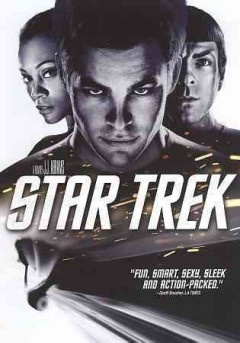 Star Trek (DVD)--On the day of James Kirk's birth, his father dies on his ship in a last stand against a mysterious alien time-traveling vessel looking for Ambassador Spock, who, in this time, is also a child on Vulcan disdained by his neighbors for his half-human heritage. Twenty-five years later, Kirk has grown into a young troublemaker. Challenged by Captain Christopher Pike to realize his potential in Starfleet, he comes to annoy instructors like young Commander Spock.