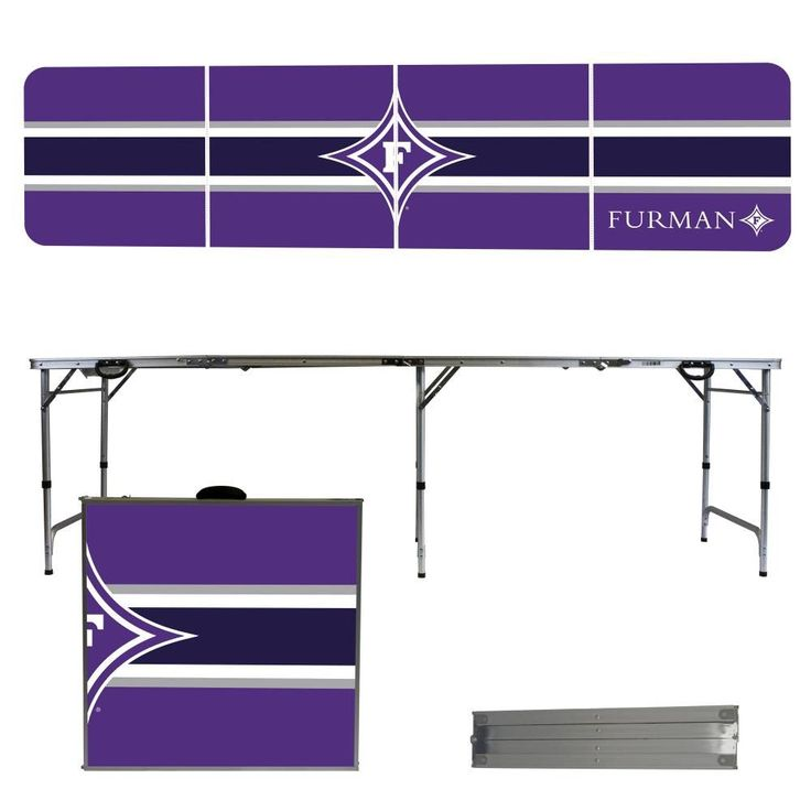 Furman Paladins Varsity Stripe Folding Table