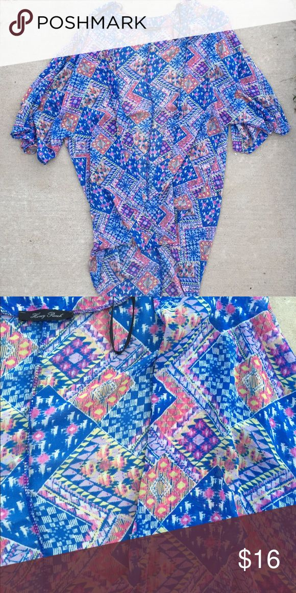 ✨Shop Hope's Kimono✨ Shop Hopes colorful long kimono! Worn only a few times! Lightweight with a ho-lo style! Tops