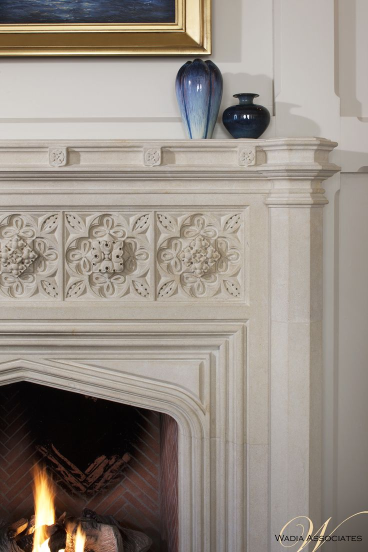 Curl Up By The Fire, The Architectural Detailing Carries Out Even Around  The Stone Fireplace