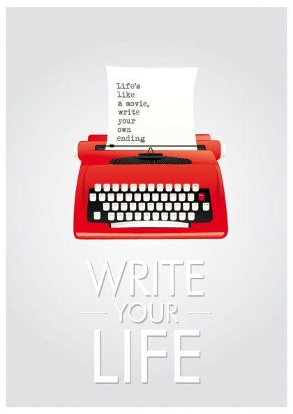 Write your life plakat