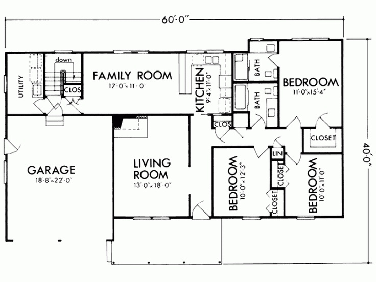 68 best images about house plans on pinterest monster for 40x60 house floor plans