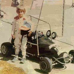 Jeff Gordon | 1975 - At the tender age of four, he got his very first car, a gift from his step-father, John Bickford, a quarter midget, which only had a length of about six feet, and was powereded by a small one cylinder 2.85 horsepower engine.