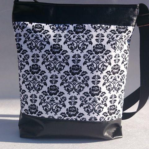 Mintás női textilbőr táska, Táska, Tarisznya, Válltáska, oldaltáska, Meska
