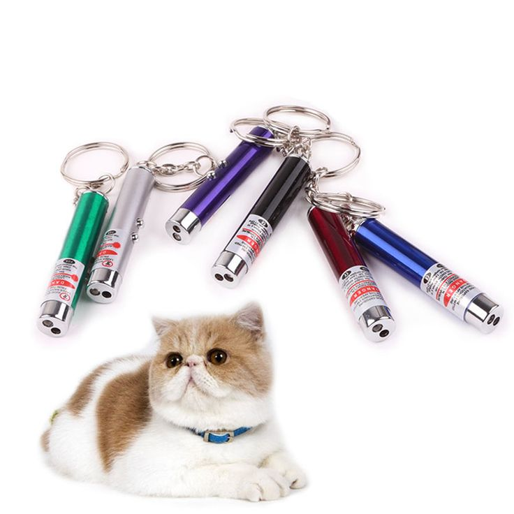 5pcs/set Portable Creative  Funny Pet Cat Toys LED Laser Pointer Light Pen With Bright Animation Mouse Shadow For Cat Children
