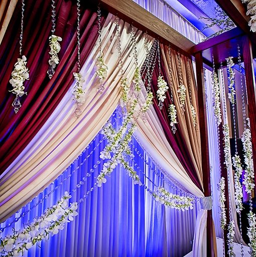 indian wedding floral mandap
