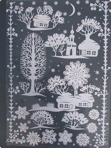 Картина панно рисунок Новый год Вырезание Зимняя сказка Бумага http://www.pinterest.com/pin/444519425694458128/