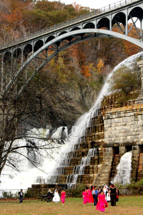 Bridge in Autumn, New Croton Dam, New York.  Go to www.YourTravelVideos.com or just click on photo for home videos and much more on sites like this.  Photo by Hideki Okubo