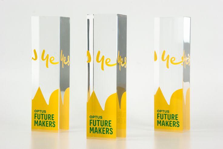 Yes Optus Future Makers | #trophy #design #award #modern