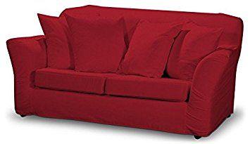 Dekoria Fire Retarding Ikea Tomelilla 2-seater sofa cover - red