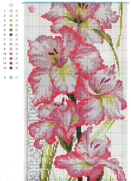 Gallery.ru / Фото #9 - цветы, схемы вышивок из интернета - poodel