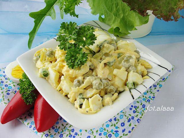 Ala piecze i gotuje: Sałatka jajeczna z groszkiem