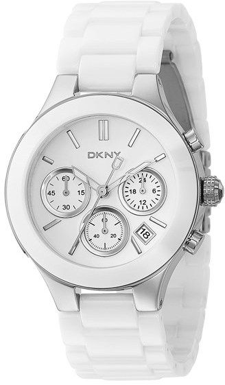 $250, White Ceramic Watch: DKNY Chambers Ceramic Chronograph Bracelet Watch 39mm. Sold by Nordstrom. Click for more info: https://lookastic.com/women/shop_items/61576/redirect