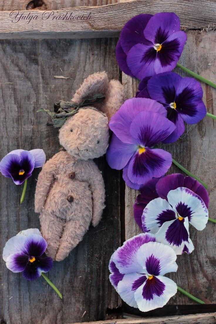 Расцветают анютины глазки и... зайки!))) - Ярмарка Мастеров - ручная работа, handmade