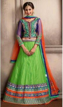 Lime Green Color Net A Line Style Party Wear Lehenga Choli | FH479574054 #heenastyle, #designer, #lehengas, #choli, #collection, #women, #online, #wedding , #Bollywood, #stylish, #indian, #party, #ghagra, #casual, #sangeet, #mehendi, #navratri, #fashion, #boutique, #mode, #henna, #wedding, #fashion-week, #ceremony, #receptions, #ring , #dupatta , #chunni , @heenastyle , #Circular , #engagement