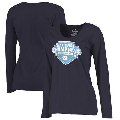 North Carolina Tar Heels Fanatics Branded Women's 2017 NCAA Men's Basketball National Champions Plus Size Pecos Long Sleeve T-Shirt - Navy