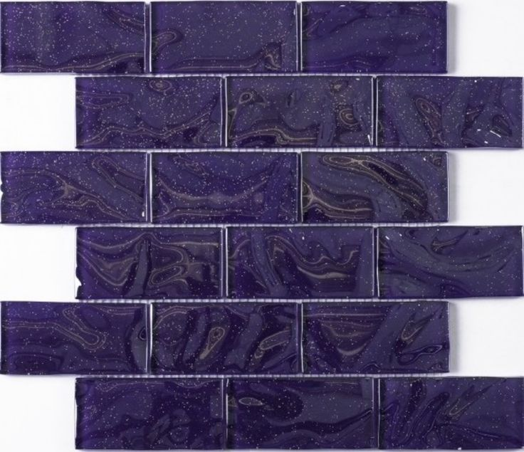 Purple Sparkle Brick Mosaic Premium Stone Glass Mosaics