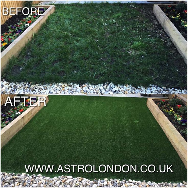Our artificial grass installation team turned this muddy garden into an easy to maintain mud free zone in Southfields, SW London. This family were delighted with their fake grass garden which also has a special Astro London shock pad underneath to keep the children safe!