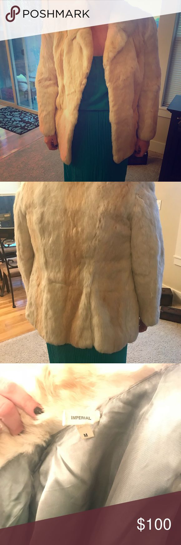 Real Rabbit Fur Coat Real Rabbit Fur Coat. Size Medium. In beautiful condition. Silk lining. Jackets & Coats