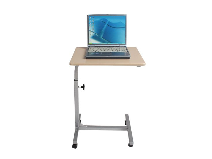 Portable Rolling Mobile Laptop Desk Height Adjustable Table Stand  #VECELO